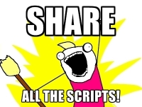Share all the scripts!